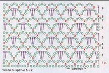 Схемы крючком| Crochet patterns / Различные схемы для вязания крючком