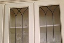 Cabinet Doors / Leaded and Stained Glass