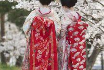 Japanese fashion kimono