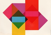 Shapes be flat / Strong shapes, color overlays, patterns, form and content informed by the aesthetics of modernism.