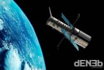 Hubble Space Telescope / The Hubble Space Telescope (HST) is a space telescope that was carried into orbit by a Space Shuttle in 1990 (April 24, 1990, 8:33:51 am) - Il telescopio spaziale Hubble è un telescopio posto negli strati esterni dell'atmosfera terrestre, a circa 560 km di altezza, in orbita attorno alla Terra. È stato lanciato il 24 aprile 1990 con lo Space Shuttle Discovery come progetto comune della NASA e dell'Agenzia Spaziale Europea (ESA).
