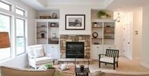 Great Rooms / Build a gorgeous focal point for your living room with Great Room Walls like these!