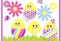 Velikonoce-omalovanky,šablony