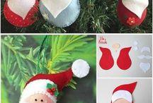 Christmas handmade ornaments