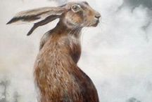 rabbit illustration / Paintings and illustrations of rabbits and hares