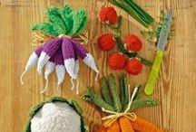 gehaakt eten / Fruit, groente, taarten en cupcakes gehaakt