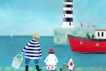 Coastal folk art, fine art and illustration / Art that evokes everything coastal all around the world. / by Sandra