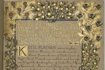Inspiration: The Illuminated Manuscript / Medieval and other illuminated manuscripts to inspire.