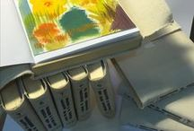 Artist's Books, Book Arts / Handmade books, made of paper, wood, canvas, oil paint, gouache and watercolor, Artists' Books
