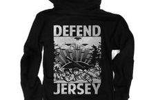 New Jersey Hoodies / What finer way to stay warm on those chilly Jersey nights.