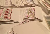 Cards, Handpainted / 5x7 original, hand painted, blank greeting cards with envelopes. Sets of six.