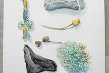 Winter  | Skizzenbuch Inspiration / Winter im Skizzenbuch, Wintermotive und Ideen