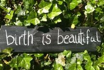 Birth Chalkboard / Thoughts about birth on my chalkboard