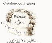 ......... Prunelle et Bigoudi .........  ... Les Vêtements  ... / Un Art de Vivre au Naturel ...     Vêtements en Lin          . .