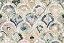 Floor Texture Fabrics / Mat, połysk, len, jedwab, wełna, skóra, drewno, stal, szkło, ceramika... czyli co z czym łączyć?