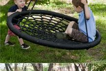 Garden play for children / Ideas for play elements in gardens