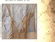 L'Art ... du fil, du tissu, de la peinture... / couture . broderie . tissu . lin .