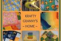 Krafty Granny's Home - wonderful handmade treasures / Very well-made crocheted, quilted & hand sewn items from a talented Etsian who's been doing it for 50 years!
