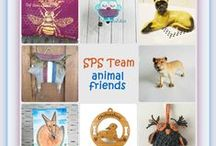 Colorful Animal Friends / Some of the many great animals created by members of the Etsy SPS Team.