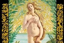 BOTTICELLI TAROT / Beautíful oracle cards, golden cards...