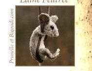 ............   Laine Feutrée   ........... /  Grilles . Lettres à broder . abécédaire . sample . point de croix broderie . laine feutrée . laine bouillie