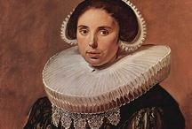 Nederlandse barok (1625-40)  / De mode in de Nederlanden is veel bescheidener dan aan het Franse hof, de stoffen zijn veel zwaarder en donkerder; opvallend is het grote gebruik van kant, verwerkt in kragen en manchetten.
