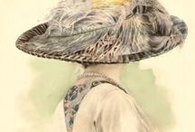"""Belle époque - fashion (1895-1914) / De """"mooie tijd"""" was voor een welgestelde minderheid. De vrouwenkleding was weelderig en romantisch, met accent op de boezem en billen. De """"S-lijn"""". De Eerste Wereldoorlog maakte een einde aan deze elitaire en onpraktische mode."""