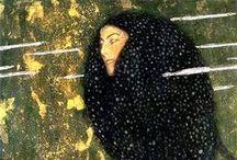 """-Gustave Klimt- / """"Chi vuole sapere di più su di me, cioè sull'artista, l'unico che vale la pena di conoscere, osservi attentamente i miei dipinti per rintracciarvi chi sono e cosa voglio."""""""