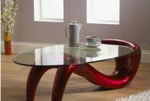 Coffee Tables / Unique collection of coffee tables are available in a selection of small and large sizes, shapes including square, round and oval and finishes including high gloss, oak and walnut. Choose from a variety of color options including clear glass, brown glass, black glass and more.