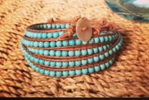Gorgeous wrap bracelets / An array of handmade wrap bracelets in a variety of colours. Each one is made using 100% leather cord and either semi precious stone beads, or glass beads, lovingly weaved in place.