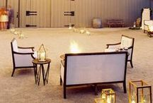 create a lounge area / barn country wedding ideas for seating and lounging