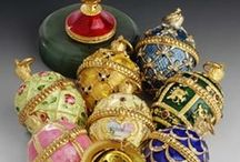 Fauxberge/Russian pretties-fakes, but pretty! / imitations, copies, styles of Faberge` and other atists / by Diane Fairbanks