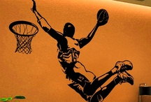 WALLTAT Sports / Removable wall decals that install with DIY ease. These Sports WALLTAT decals add personality to any decor. Offered in 34 colors and 5 sizes!