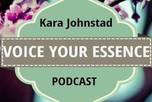 VOICE YOUR ESSENCE PODCAST / Kara Johnstad is a singer-songwriter, transformational catalyst and a powerful voice in the time and age of transition. Author, voice specialist and owner of VOICE YOUR ESSENCE™ Kara empowers audiences around the world via concerts, lectures, workshops and 1-on-1 coaching: Leading change agents, healers, personal development speakers and others recognize her as being a unique source of powerful truth and wisdom. Visit www.karajohnstad.com + get free gifts, articles, guided meditations + Mp3s.