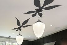 WALLTAT Ceiling Decals / Complete your rooms' decor with ceiling art that enhances your design theme.  Highlight light fixtures with decorative ceiling medallions, floral motifs or sunburst designs.