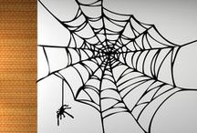 DIY Halloween Decorations / FREAKY & FAB! Introducing haunting wall decal designs. The perfect backdrop for Halloween party #selfies! Available now at WALLTAT.com.