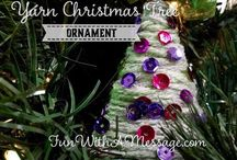 Christmas Ornaments / Fun ornaments kids can make  Tutorial available at Fun With A Message