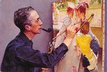 Artists 1: Portraits ~ Self Portraits ~ Studio Life / by Helen Chan Neybert