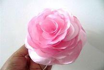 Tutorial  flores tela y papel / Para que todas aprendamos a decorar nuestras cosas.