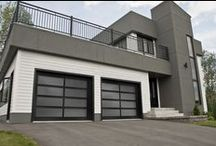 Contemporary & Modern Style / Distinct and unique, our contemporary garage doors selection match perfectly to modern style houses. For a perfect design. #garagedoor #contemporary # modern