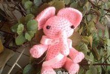 Mis elefantes amigurumi