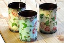 Bottles, Boxes & Tins / Crafts using Bottles, Boxes & Tins / by Gail Valleau