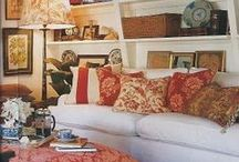 Inspiration for a Beautiful, Cozy, Personal Home / Global Chic: English Country Houses, English County Cottages, Scottish Houses, Morocco, Africa, Caribbean, Eccentric, Bohemian, Peter Hinwood, Christopher Gibbs, etc.