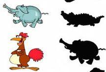 Discriminación de sombras y siluetas / Trabajamos atención, percepción visual y memoria visual