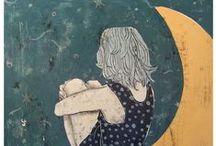 Ilustraciones: Luna / ...siempre envuelta en un halo de lunática tristeza.
