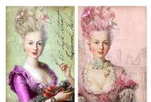 Marie-Antoinette et sa cour....
