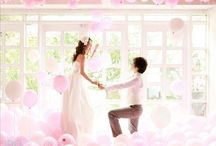 wedding /  dress、ring pillow、bouquet、cake、hairstyle