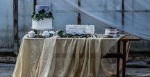 Winter Boho Wedding - Stylized Photo Shoot / Dessert table inspiration by Agata Koszyczarska