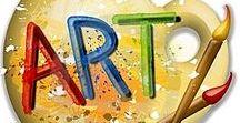 Art studio / Paintbrushes, Art Studios, Art supplies, paint, watercolors, storage, art supplies
