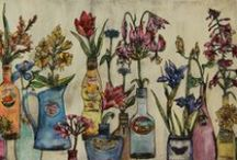 Printmaker | Vicky Oldfield / Capturing the British Countryside Exhibition at For Arts Sake | 'How Does Your Garden Grow' 5th - 23rd August 2015